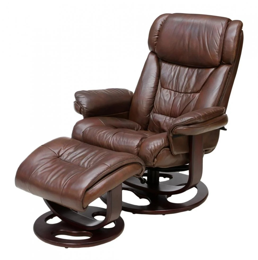 lane leather office chair brown swing holder reclining swivel armchair and ottoman
