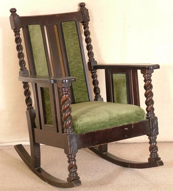 1920s rocking chair tub chairs with casters 5161 mahogany 1920 s w burley twist supp