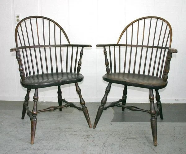antique windsor chairs mission recliner chair 237 pair marked paine furniture