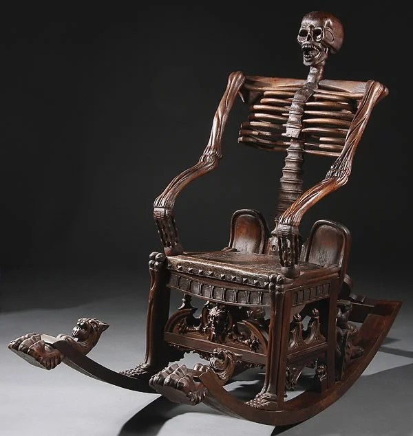 wood rocking chair styles arm walmart 535 russian style carved skeleton