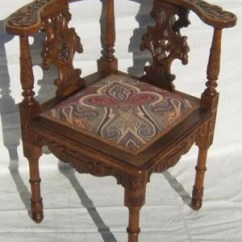 Wooden Corner Chair Cherry Wood Kitchen Table And Chairs 1 Antique Italian Heavily Carved