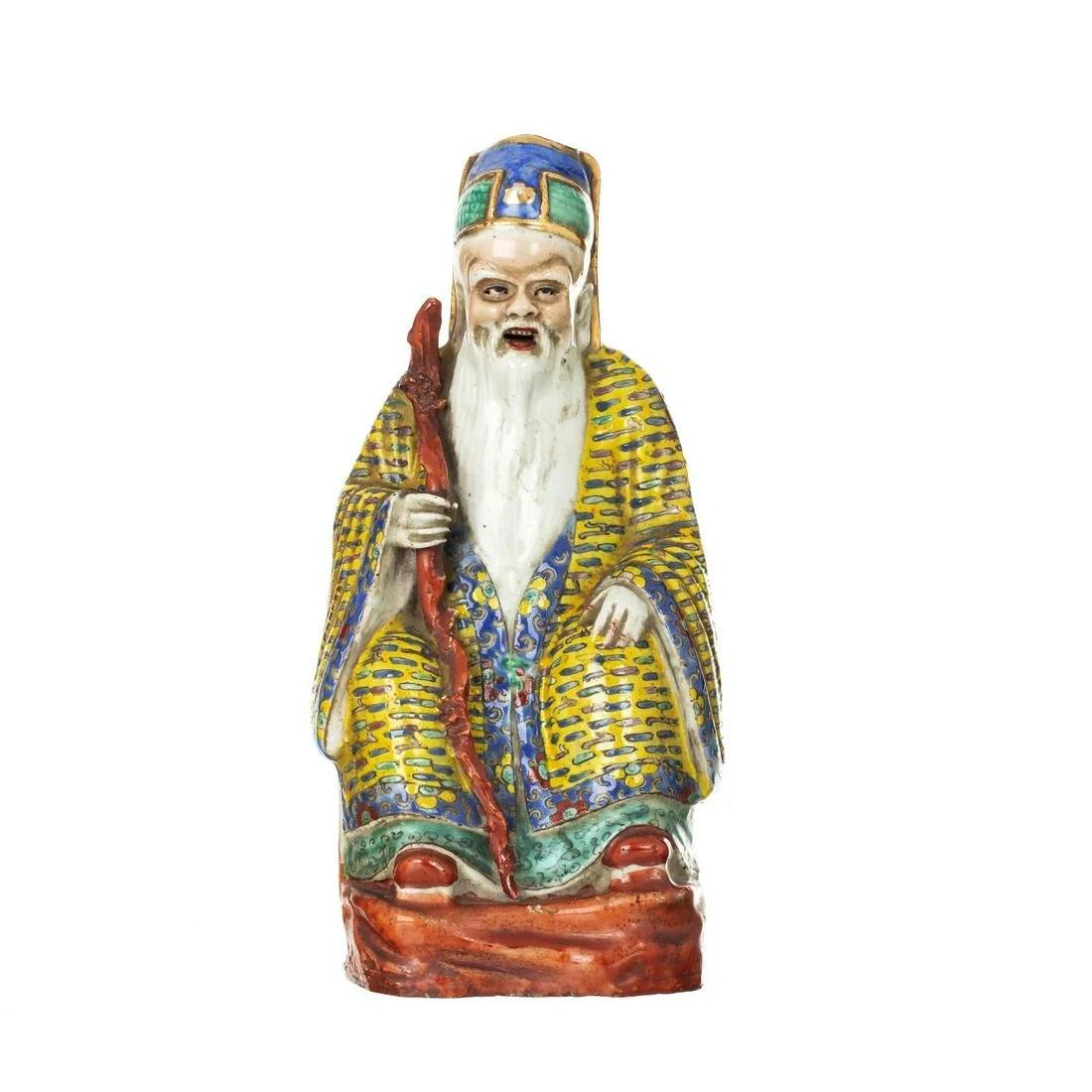 Chinese porcelain deity, Minguo / Republic