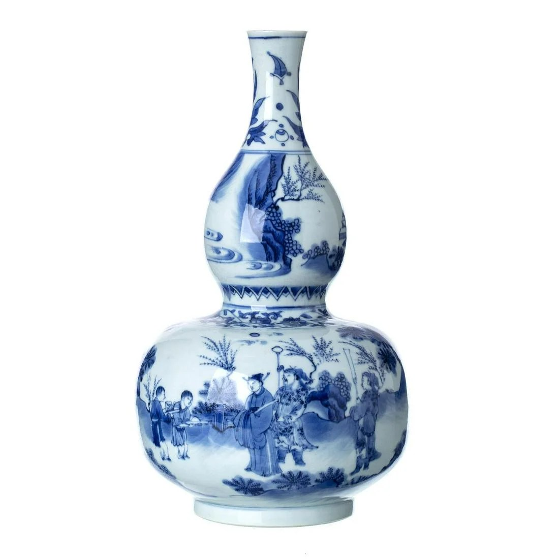 Important Chinese Transitional Blue White Porcelain