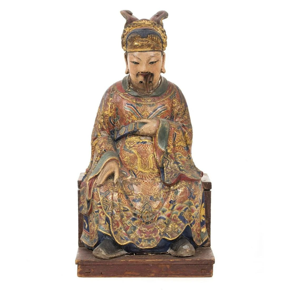 Chinese terracotta dignitary figure, 17th/18th