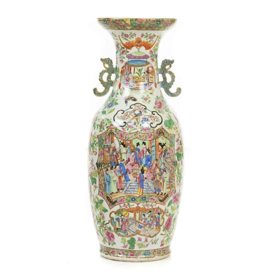 Chinese porcelain 'Mandarin' large vase, Daoguang