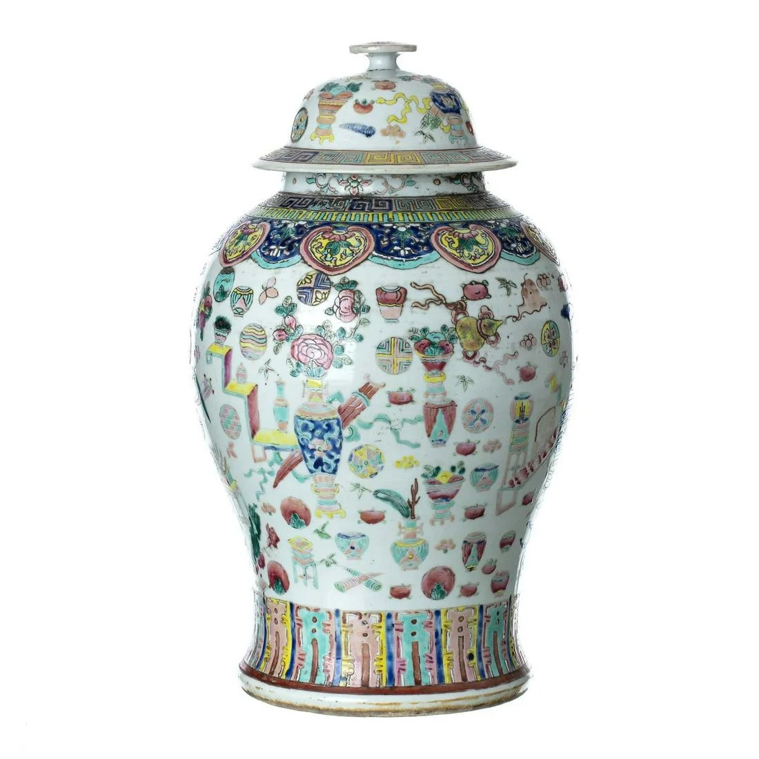 Chinese porcelain pot, Tongzhi