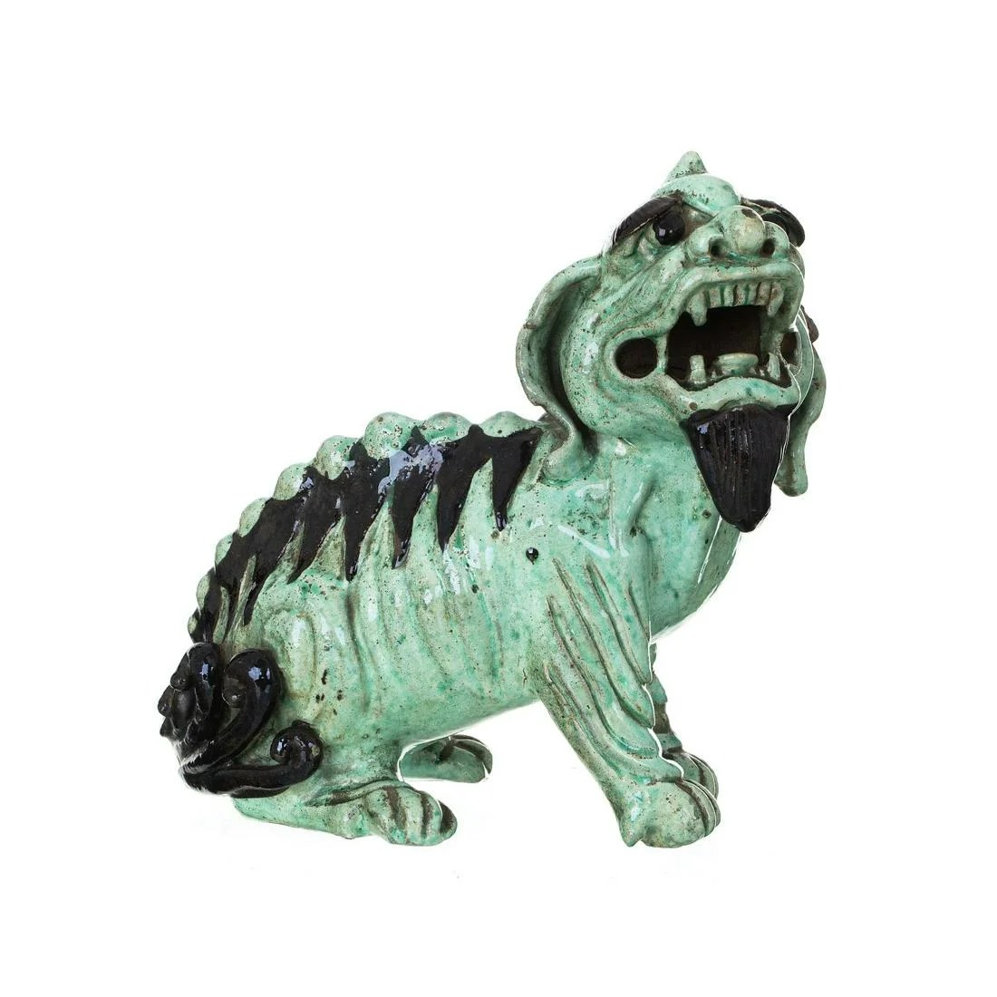 Chinese Shiwan ceramic Buddhistic lion