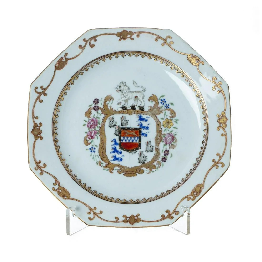 Chinese Armorial Englih market plate, Qianlong