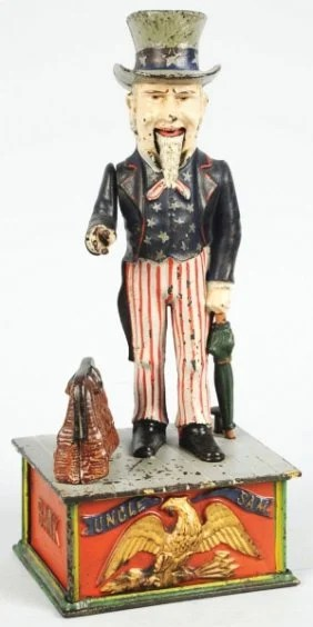 1968 Cast Iron Uncle Sam Mechanical Bank