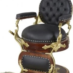 Queen Anne Style Chair Modern Leather And Ottoman Antique Koken Round Seat Back Barber Chair.