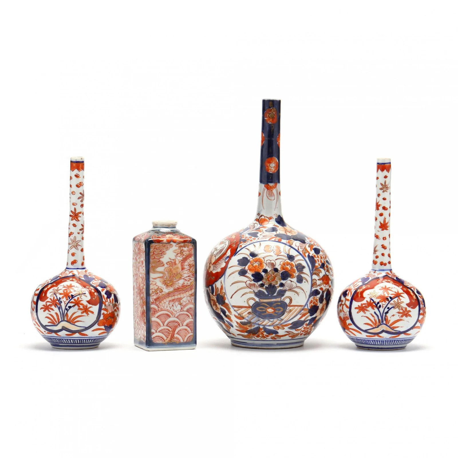 A Group of Chinese Imari Vases