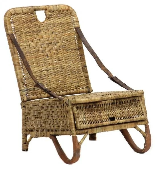canoe chair handicap shower chairs vintage portable wicker seat