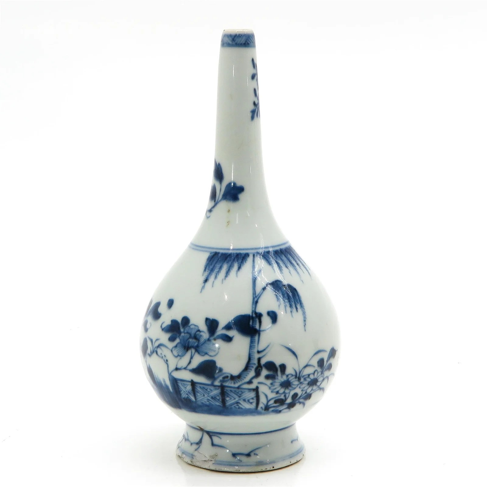 A Chinese Blue and White Rose Water