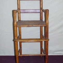 Antique High Chairs Composite Adirondack Child S Chair W Rush Seat