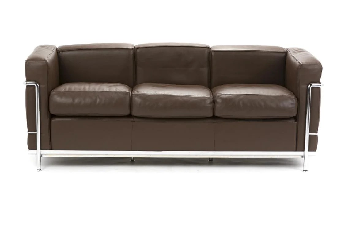 lc3 sofa apartment size sleeper sectional a cassina modele after le corbusier