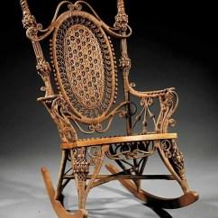 Heywood Wakefield Wicker Chairs Unusual Dining Chair 47 Rocking