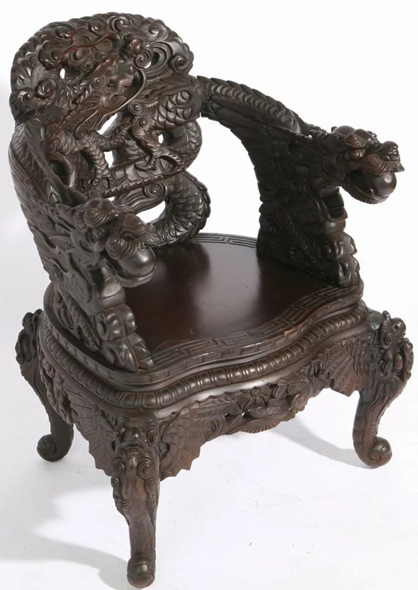 antique chinese dragon chair diy covers 341 carved teak