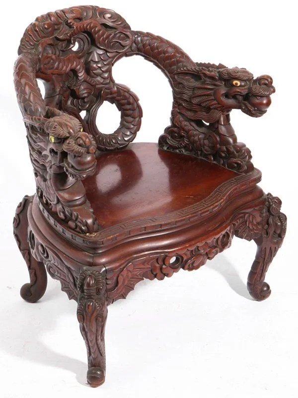 antique chinese dragon chair babies r us glider australia 342 carved teakwood