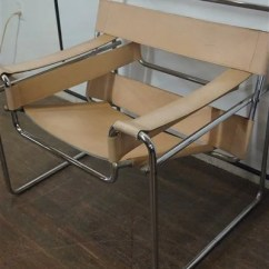 Wassily Chair Brown Leather Modtot High Marcel Breuer