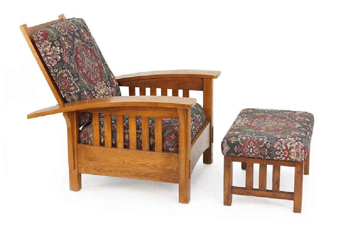 Sam Moore Chairs A Sam Moore Oak Morris Chair And Ottoman Apr 19 2018 Susanin S Auctions In Il On Liveauctioneers