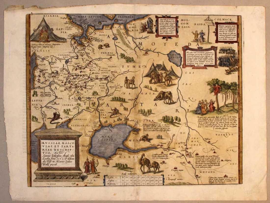 Map Russia Moscovy Tartaria Ortelius Jenkinson