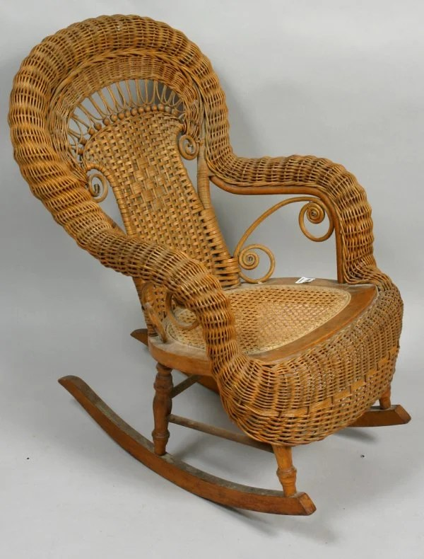 heywood wakefield wicker chairs what states still use the electric chair 2181 child s rocker