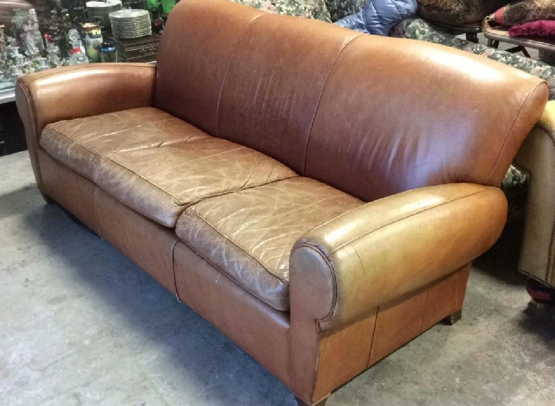 leather sofa like pottery barn sleek sets for small flats india mitchell gold