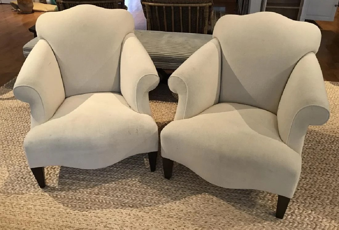 art deco style club chairs leather chair covers uk designer pair upholstered