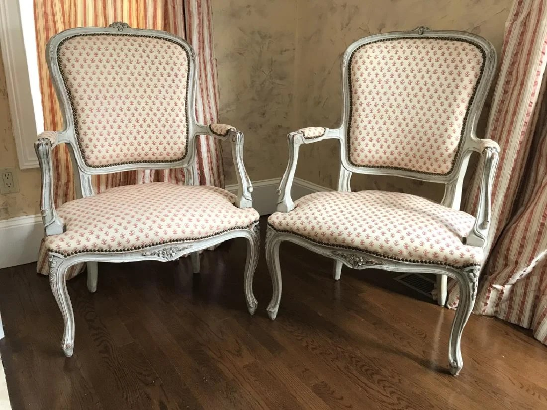french bergere chair bean bag filler pair louis xv style chairs