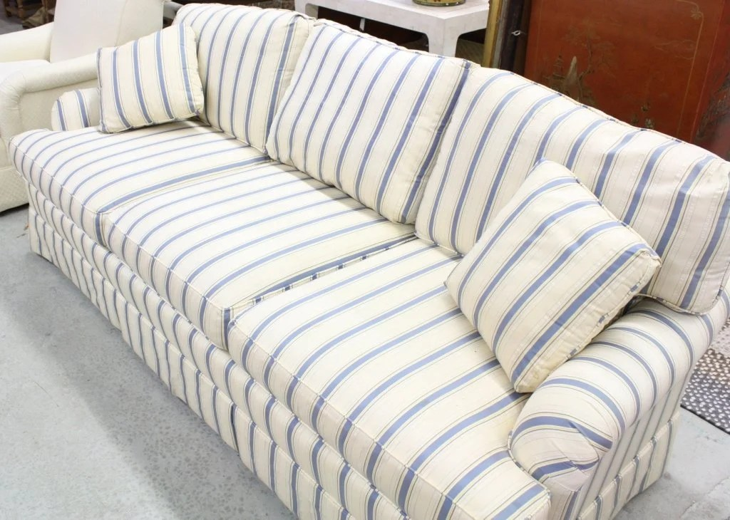 navy blue striped sofa furniture set pic and white