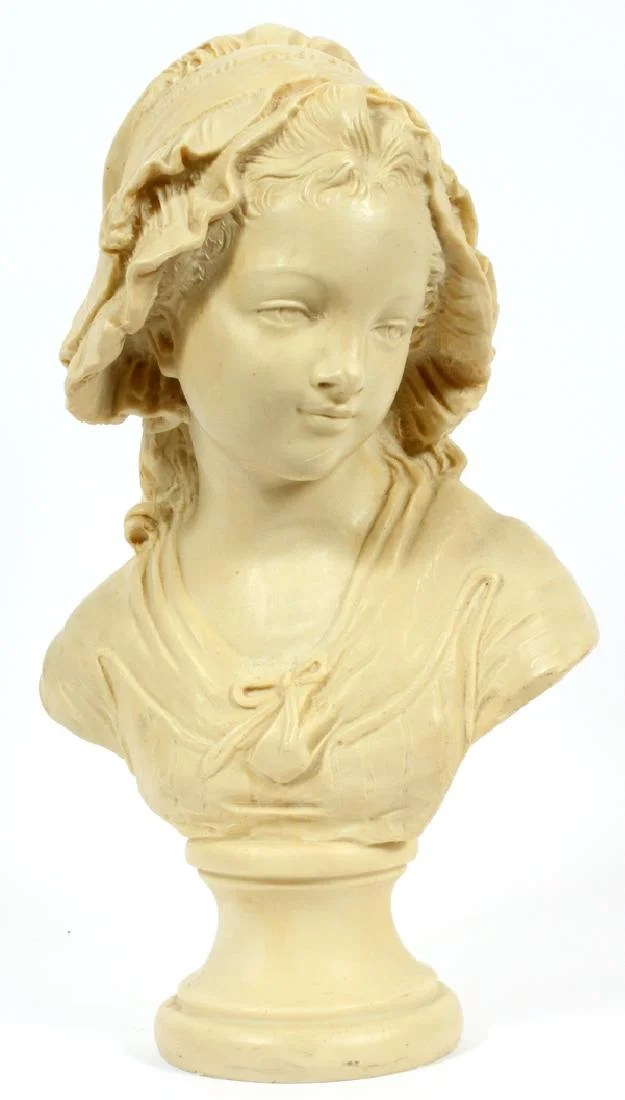 AFTER GRINAM NIAM COMPOSITE BUST OF A YOUNG GIRL