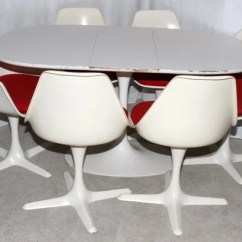Tulip Table And Chairs Oak Fabric Dining Burke Inc Dallas Texas