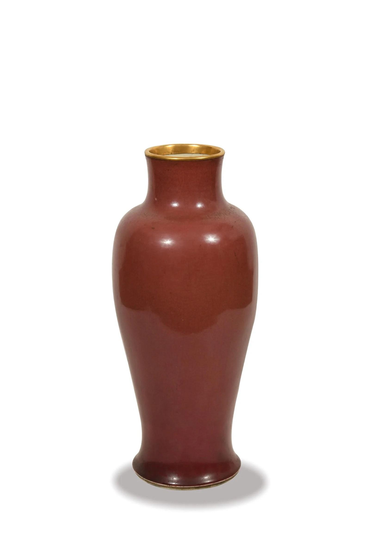 Chinese Langyao Red Glazed Vase, Kangxi