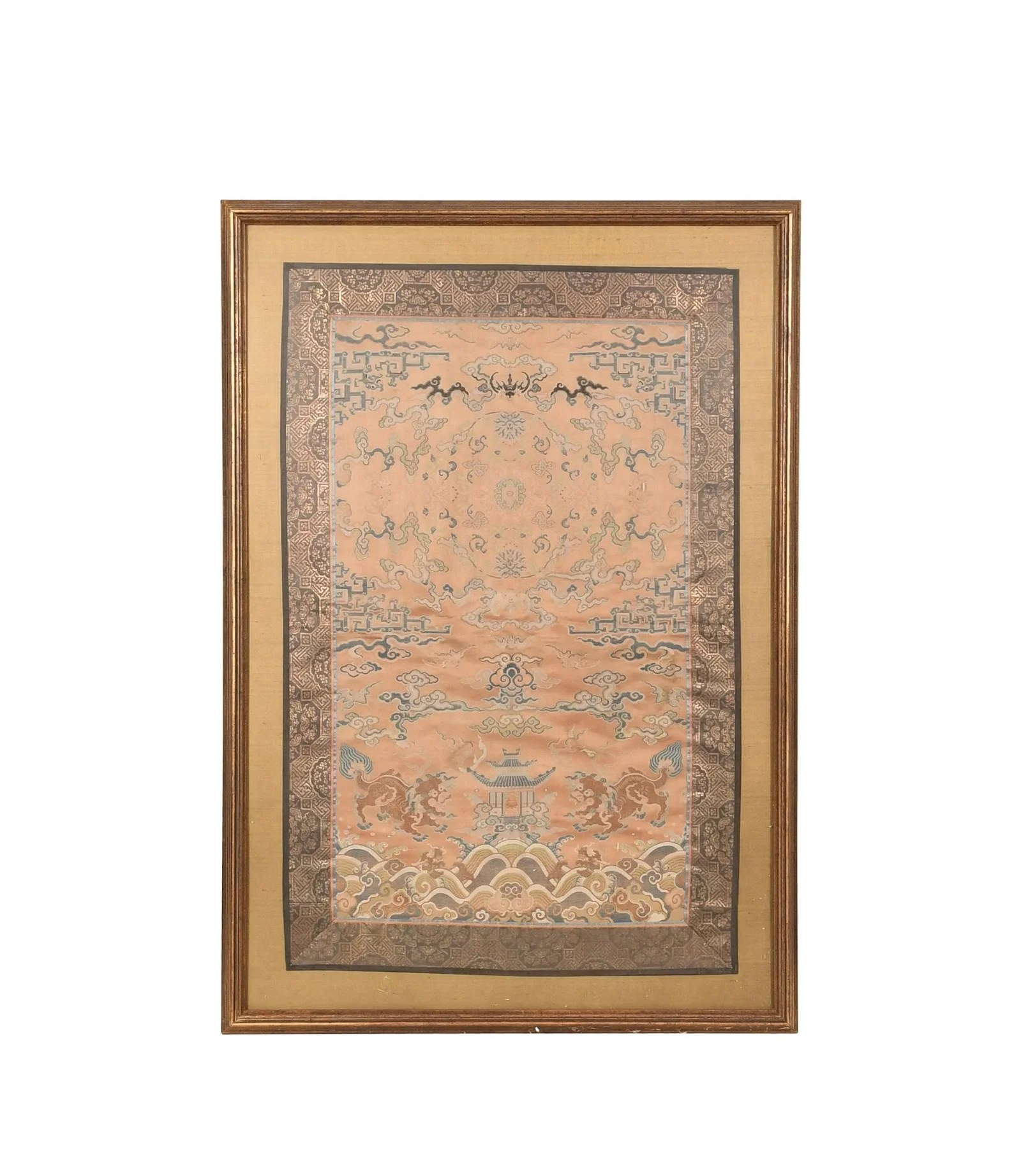 Chinese Framed Embroidery, 18th Century