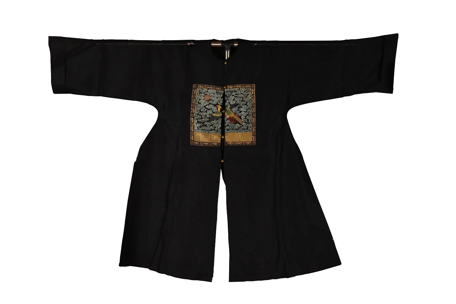 Chinese Black Ground Official's Robe, 19th Century