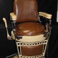 Antique Wood Barber Chair Coors Light With Cooler Emil J Paidar