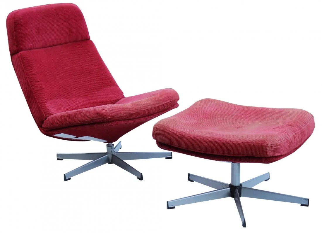 red lounge chair wheelchair that goes up stairs mid century modern corduroy