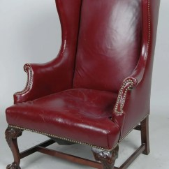 Red Wing Chair White Wood Dining Chairs Elegant Leather Wingback Rtty1