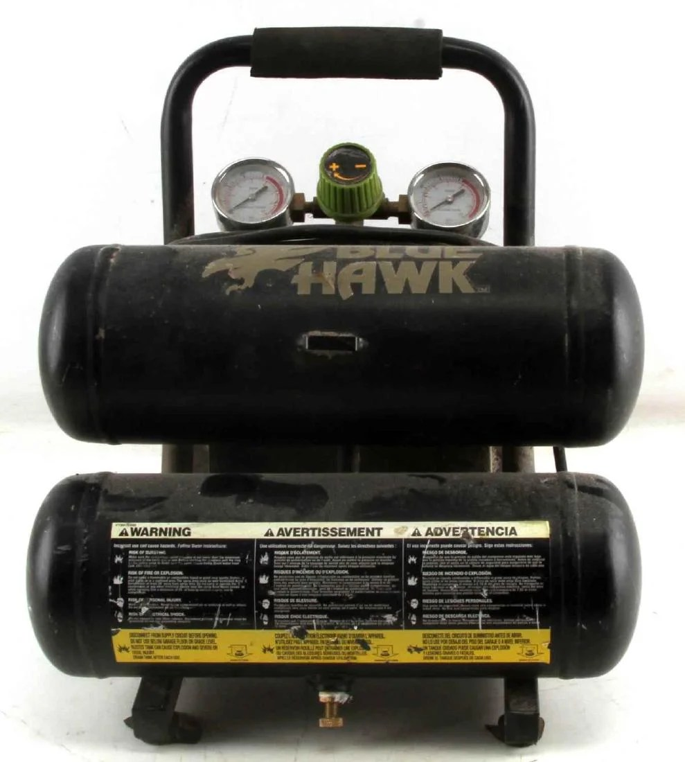 hight resolution of blue hawk 2 gallon 125 psi air compressor 0120212a jun 28 2018 affiliated auctions in fl