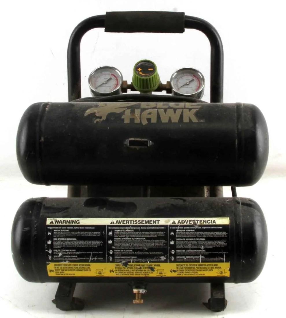 small resolution of blue hawk 2 gallon 125 psi air compressor 0120212a jun 28 2018 affiliated auctions in fl