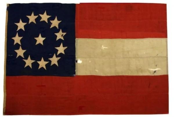 federal dining chairs twin sleeper chair ikea civil war captured confederate flag circa 1862