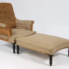 Leather Bergere Chair And Ottoman Double Bean Bag 9 French Napoleon Iii Burlap