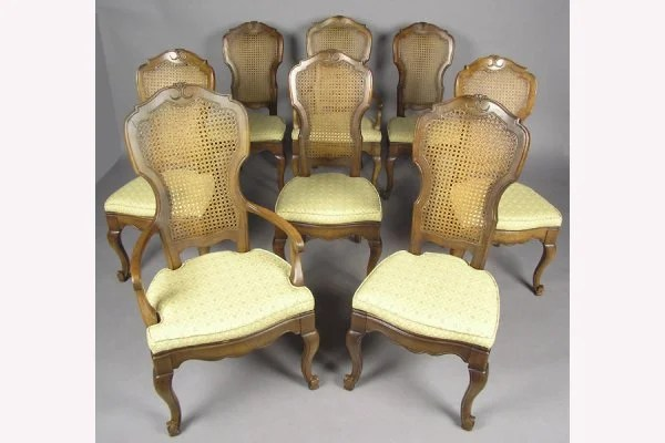 cane back dining room chairs chair cover hire redditch 8 fruitwood