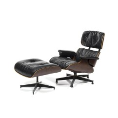 Charles Eames Lounge Chair Real Leather Dining Room Chairs And Ottoman