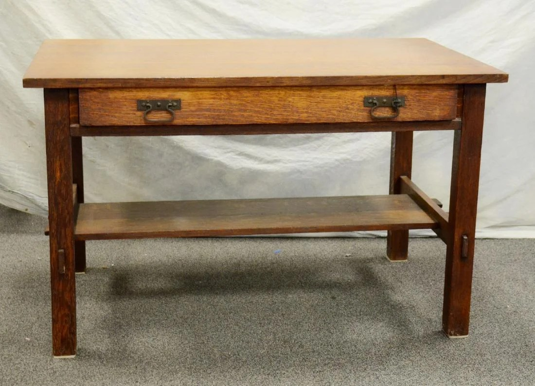 stickley sterling sofa table small sectional with recliner and chaise brandt chair company arts crafts desk