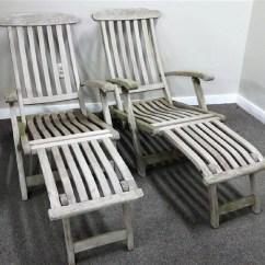 Teak Steamer Chair Folding B&q Pair Of Chairs