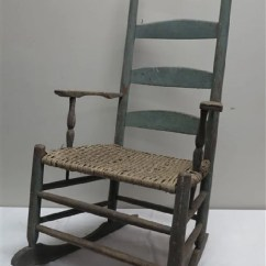Arm Chair Rocker Flag Halyard 2 Early Chairs And See Sold Price