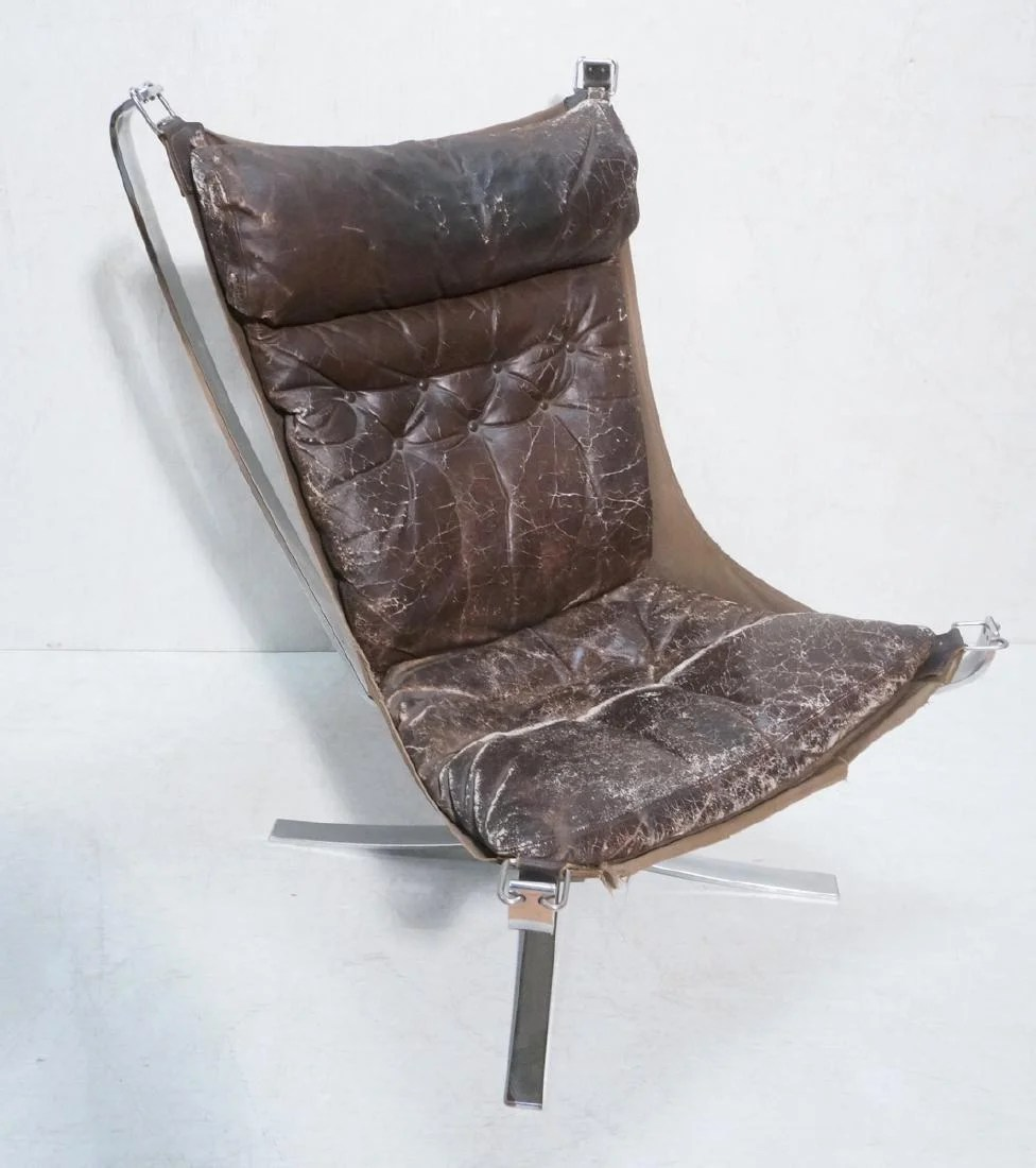 Falcon Chair Tall Back Stainless Steel Falcon Chair By Sigurd On Liveauctioneers