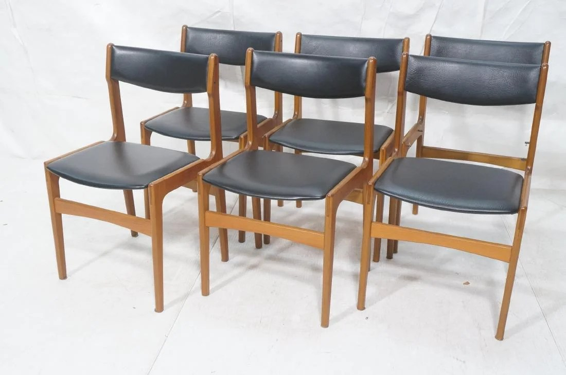 danish modern dining chair double adirondack chairs with umbrella set 6 eric buck side