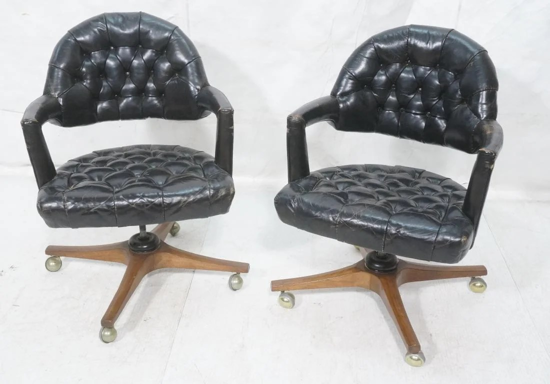 small resolution of pr dunbar tufted chesterfield style office chairs sep 18 2018 uniques antiques inc in pa